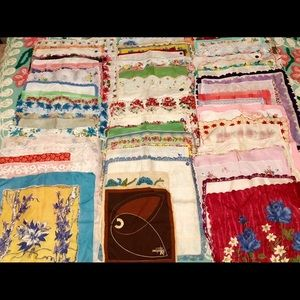 Lot of 51 VTG Ladies Handkerchiefs Hankies Hankys